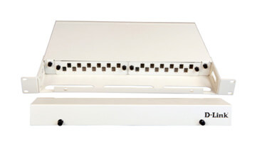D-Link LIU 24 Port Rack Mount Patch Panel loaded with 12 Duplex LC Multimode Adapters- Fixed